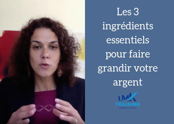 Entrepreneurs : Les 3 ingrédients dont votre argent a besoin !